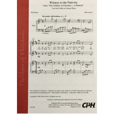 Witness to the Nativity 2pt/Unison Choral